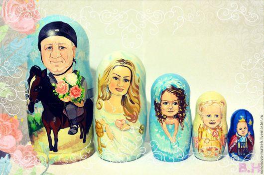 Портретные куклы ручной работы. Ярмарка Мастеров - ручная работа. Купить Матрешки по фото. Handmade. Бледно-розовый, пастельные цвета