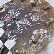 """Для дома и интерьера ручной работы. Ярмарка Мастеров - ручная работа Часы """"Шахматы"""". Handmade."""
