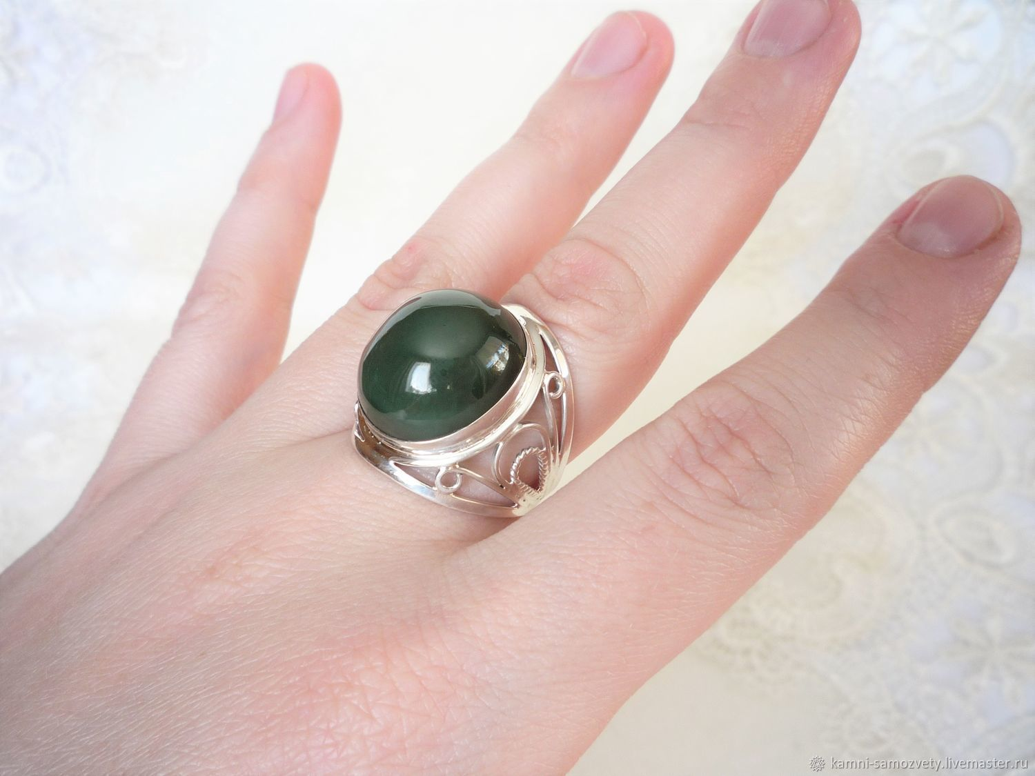 Ring of jade – shop online on Livemaster with shipping - EWOCHCOM ...