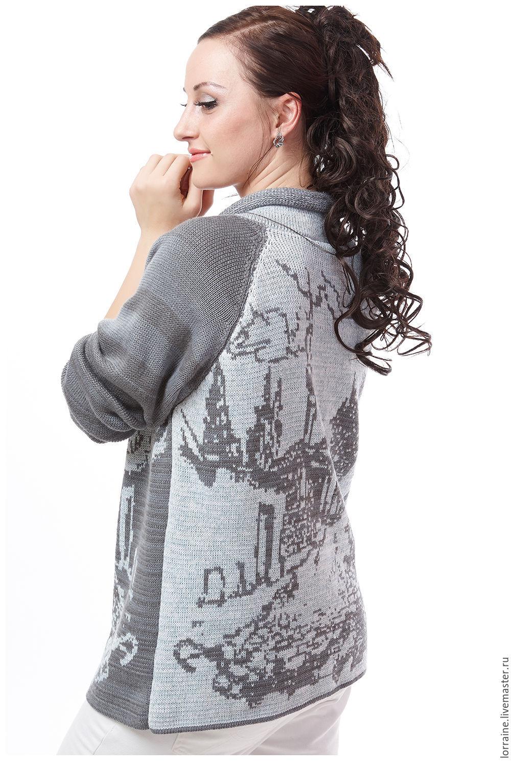 Модели женских вязаных свитеров доставка