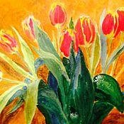 """Картины и панно ручной работы. Ярмарка Мастеров - ручная работа """"Тюльпаны"""". Handmade."""