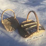 Для дома и интерьера ручной работы. Ярмарка Мастеров - ручная работа Дровница плетеная. Handmade.