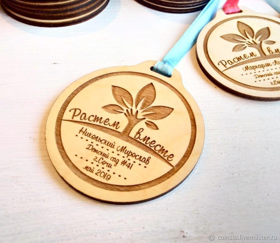 Деревянные медали для детей, Атрибутика, Бийск, Фото №1