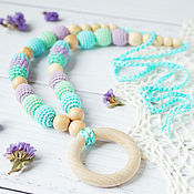 Одежда handmade. Livemaster - original item Slingobusy mint-blue ring. Handmade.