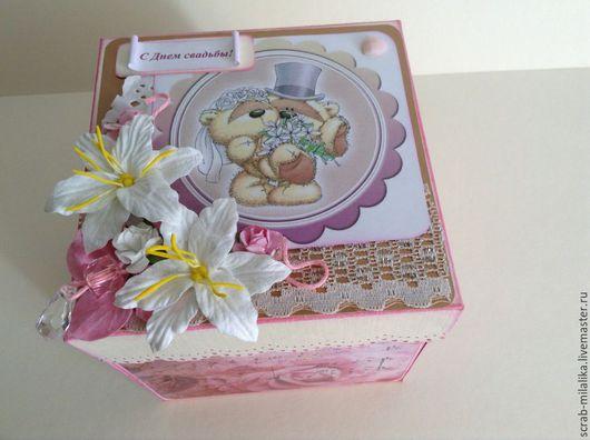Подарки для влюбленных ручной работы. Ярмарка Мастеров - ручная работа. Купить Подарочная коробка. Handmade. Бледно-розовый, подарок сестре