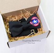 Аксессуары handmade. Livemaster - original item Tie Captain America. Handmade.