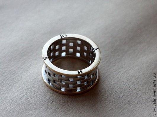 Кольца ручной работы. Ярмарка Мастеров - ручная работа. Купить Кольцо из золота микс  585 пробы с гравировкой. Handmade. Золотой
