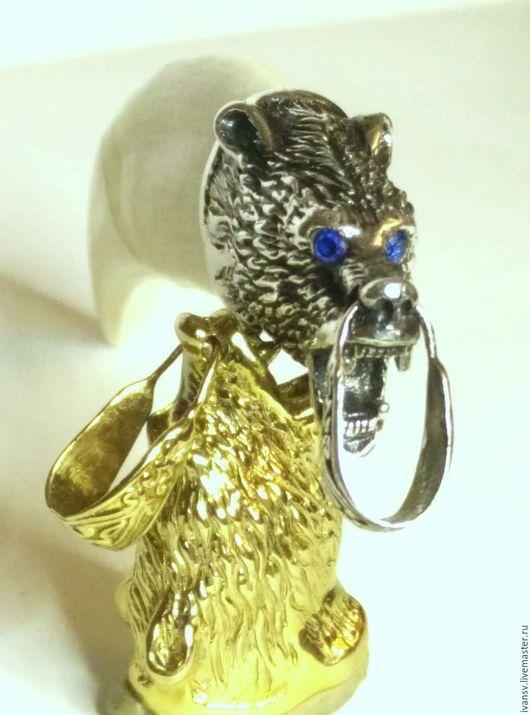 Подарки для мужчин, ручной работы. Ярмарка Мастеров - ручная работа. Купить Клык  медведя в литом серебре 925 пробы. Handmade.