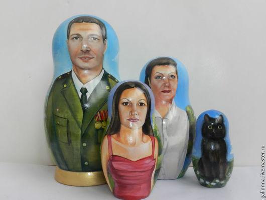 Матрешки ручной работы. Ярмарка Мастеров - ручная работа. Купить портретная матрёшка. Handmade. Голубой, портретная кукла, матрешка расписная