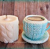 Косметика ручной работы. Ярмарка Мастеров - ручная работа Мыльный набор Чашка кофе и свеча. Handmade.