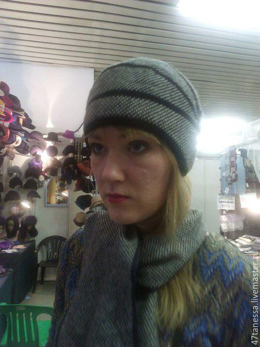 """Шляпы ручной работы. Ярмарка Мастеров - ручная работа. Купить авторская шляпка  комплект """"минингитка"""". Handmade. Чёрно-белый"""