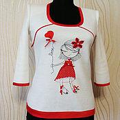Одежда handmade. Livemaster - original item Knitted tunic dress with charming embroidery. Handmade.