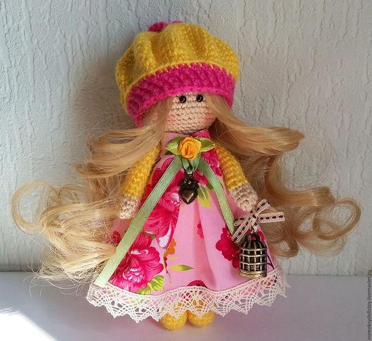 Коллекционные куклы ручной работы. Ярмарка Мастеров - ручная работа. Купить Вязаная кукла - Весняночка. Handmade. Вязаная игрушка, весна
