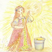 Картины и панно ручной работы. Ярмарка Мастеров - ручная работа Солнечная Хозяюшка. Handmade.