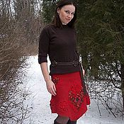 Одежда handmade. Livemaster - original item Skirt felted