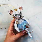 Мягкие игрушки ручной работы. Ярмарка Мастеров - ручная работа Мышка балерина. Новый год.. Handmade.