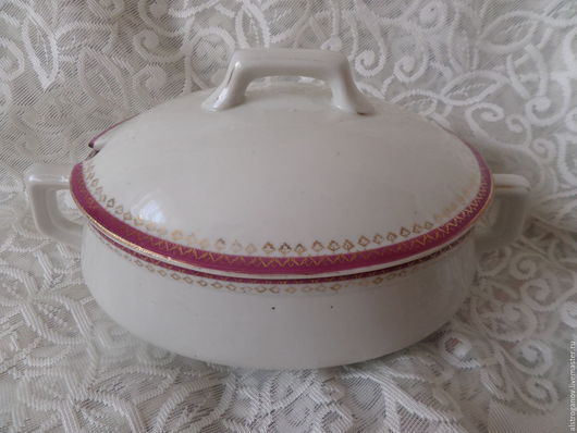 Винтажная посуда. Ярмарка Мастеров - ручная работа. Купить 30-е.ДУЛЕВО.Супница малая.. Handmade. Комбинированный, дулево