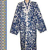 Одежда ручной работы. Ярмарка Мастеров - ручная работа Узбекский вышитый шелком национальный халат, чапан M618. Handmade.