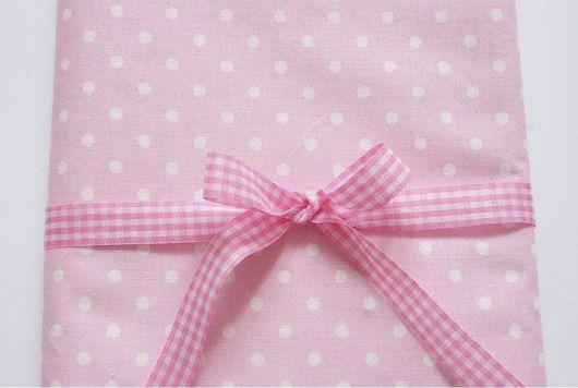 Шитье ручной работы. Ярмарка Мастеров - ручная работа. Купить Хлопок 100% белый горошек на розовом. Handmade. Хлопок