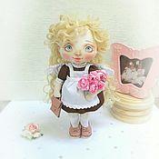 Куклы и игрушки ручной работы. Ярмарка Мастеров - ручная работа Кукла-первоклассница. Подарок на 1 сентября. Продана.. Handmade.