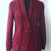 Одежда handmade. Livemaster - original item Cardigan for women with braids knitting Ginerva 1. Handmade.