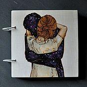 "Канцелярские товары handmade. Livemaster - original item Notepad 22x22sm ""Embracing the space"". Handmade."