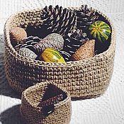 Корзины ручной работы. Ярмарка Мастеров - ручная работа Корзинки для хранения мелких предметов. Handmade.