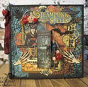 Фотоальбомы ручной работы. Ярмарка Мастеров - ручная работа Поп-ап альбом в стиле стимпанк Хеллоуин. Handmade.