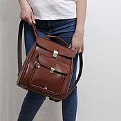 Рюкзаки ручной работы. Ярмарка Мастеров - ручная работа Рюкзаки: сумка -рюкзак из кожи. Handmade.