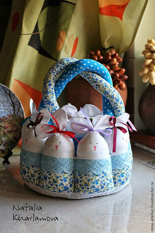 Подарки на Пасху ручной работы. Ярмарка Мастеров - ручная работа. Купить Пасхальная корзинка. Handmade. Корзина, текстильная корзинка