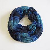 Аксессуары handmade. Livemaster - original item Snudy: Snood scarf knitted in two turns from kid mohair. Handmade.