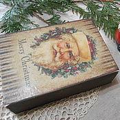 """Подарки к праздникам ручной работы. Ярмарка Мастеров - ручная работа Короб-пенал """"Рождественский"""". Handmade."""