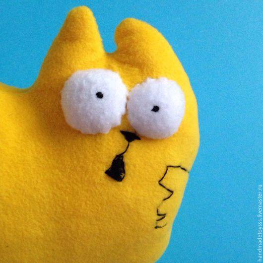 Игрушки животные, ручной работы. Ярмарка Мастеров - ручная работа. Купить Кот Саймона голодный. Handmade. Желтый, игрушка кот