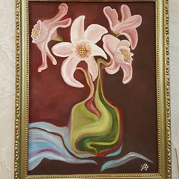 Картины и панно ручной работы. Ярмарка Мастеров - ручная работа Розовые Нарцисы. Handmade.