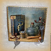 """Для дома и интерьера ручной работы. Ярмарка Мастеров - ручная работа Панно-ключница """" Воспоминания"""". Handmade."""