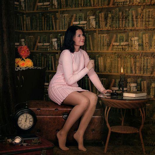 """Платья ручной работы. Ярмарка Мастеров - ручная работа. Купить Вязаное платье """"Незнакомка"""". Handmade. Бледно-розовый, платье повседневное"""