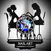 Для дома и интерьера handmade. Livemaster - original item Wall Clock Nail Art. Handmade.