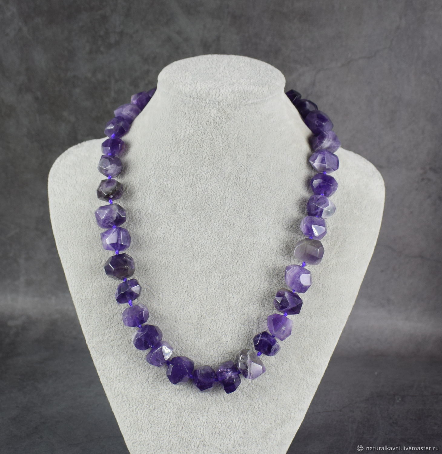 Beads made of natural stones Natural Amethyst, Beads2, Moscow,  Фото №1