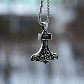 Украшения handmade. Livemaster - original item Pendant / Amulet Thor`s Hammer with Triquetr Jewelry Steel. Handmade.