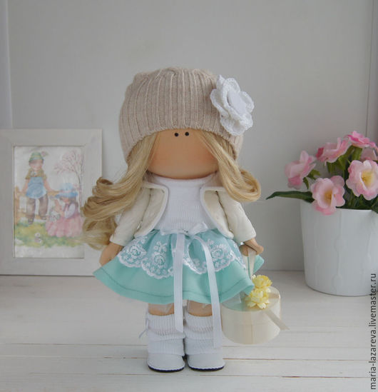 Коллекционные куклы ручной работы. Ярмарка Мастеров - ручная работа. Купить Интерьерная кукла. Handmade. Бирюзовый, интерьерная кукла