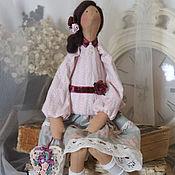 Кукла Тильда. Купить Тильду. Серый. Розовый.