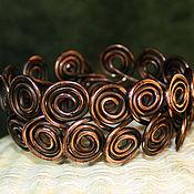 Украшения handmade. Livemaster - original item Copper Spiral bracelet. Handmade.