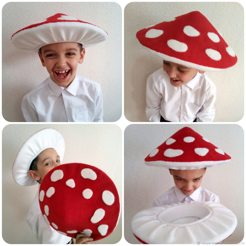 Сшить своими руками шляпу гриба из 3