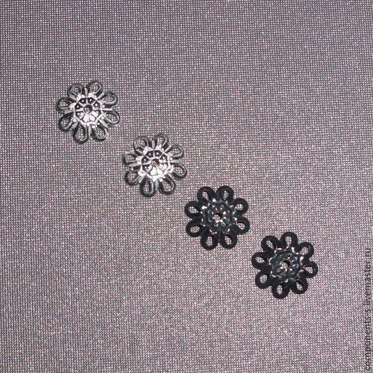 """Для украшений ручной работы. Ярмарка Мастеров - ручная работа. Купить Шапочка для бусин """"Цветок 8"""", 2 цвета. Handmade."""