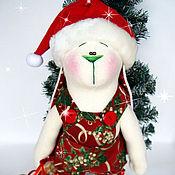 Куклы и игрушки ручной работы. Ярмарка Мастеров - ручная работа Зай с лошадкой новогодний. Handmade.