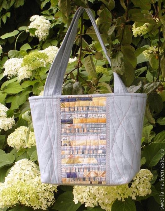 Женские сумки ручной работы. Ярмарка Мастеров - ручная работа. Купить Текстильная сумка из джинсовой ткани. Handmade. Разноцветный
