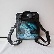 Сумки и аксессуары handmade. Livemaster - original item Backpack transformer leather bag with custom painting for Yulechka). Handmade.