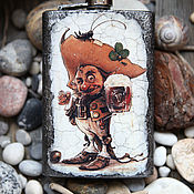 Сувениры и подарки handmade. Livemaster - original item A flask The tavern sings all night.. Handmade.