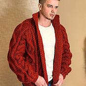 Мужская одежда handmade. Livemaster - original item Men`s wool cardigan. Handmade.