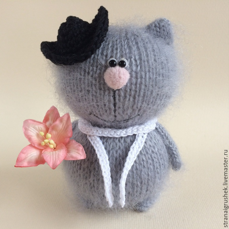 Animal Toys handmade. Livemaster - handmade. Buy A Cat In March.Gift, original gift, knitted cat, tomcat